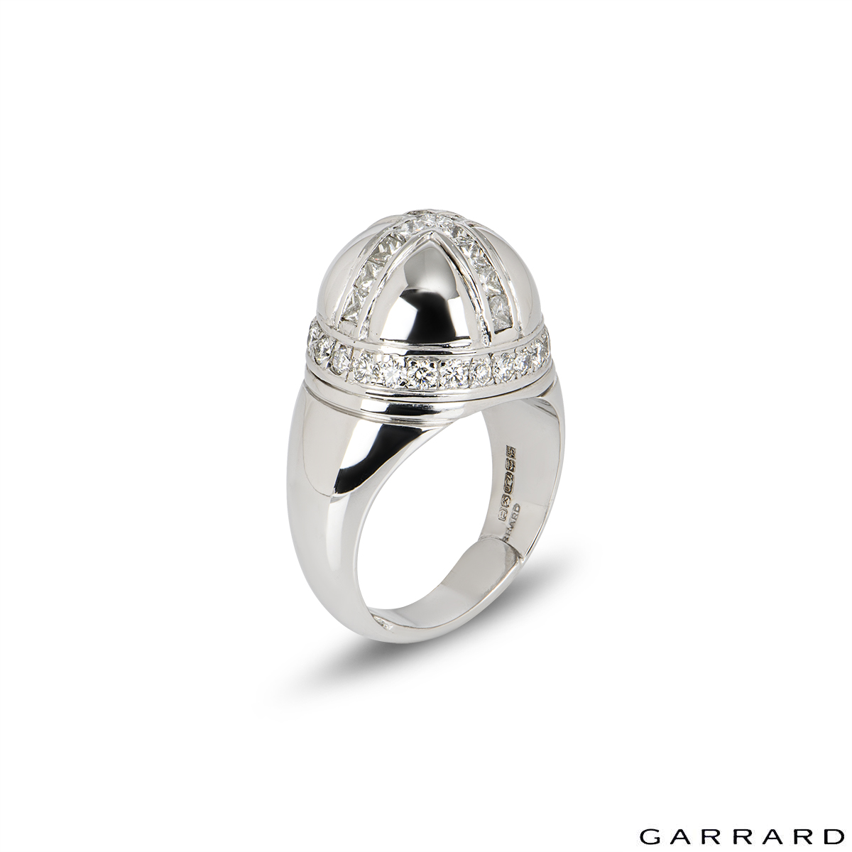 Garrard 18k White Gold Diamond Dress Ring